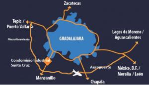 mapa de ubicacion de condominio industrial santa cruz