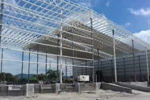 imagen de estructura de construcción de nave industrial