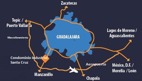 mapa general de ubicacion de condominio industrial santa cruz
