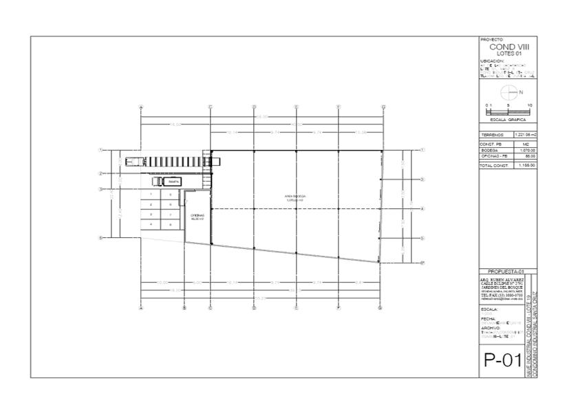 mapa lote 01 en renta condominio industrial santa cruz