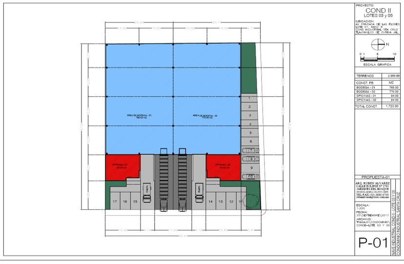 Mapa Parque Industrial Santa Cruz lote 03 y 05