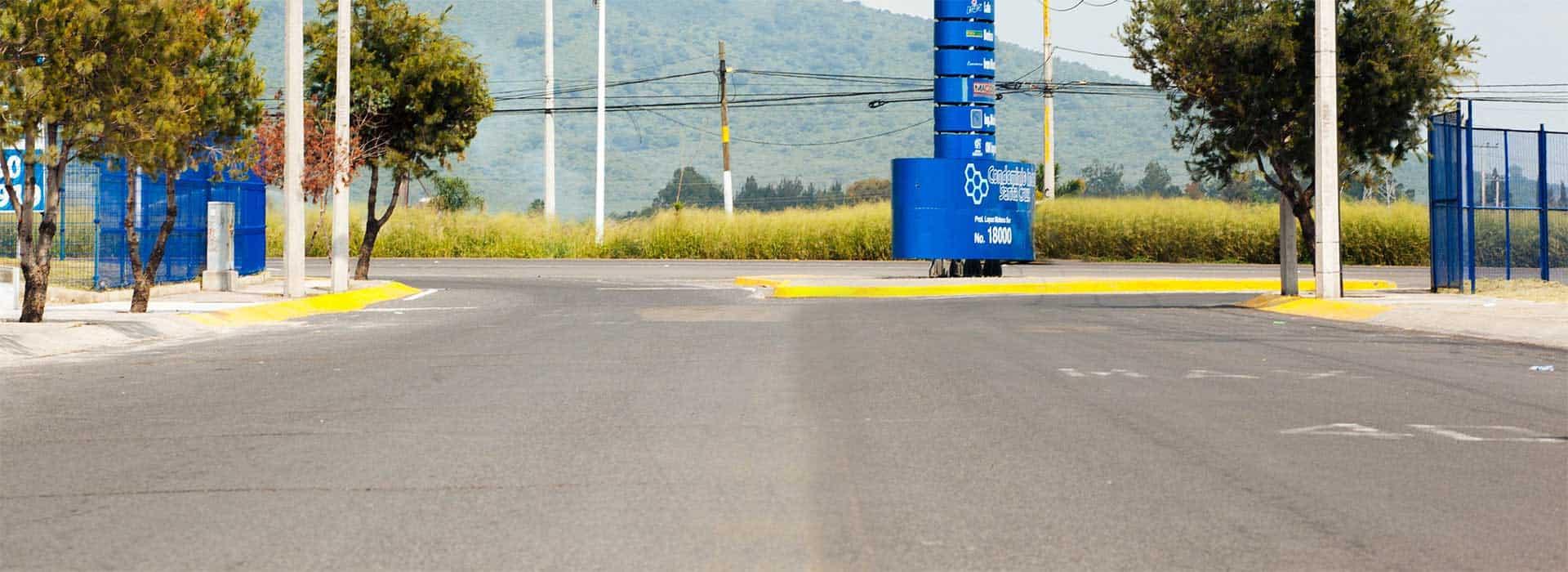 imagen de calle cercana a condominio industrial santa cruz
