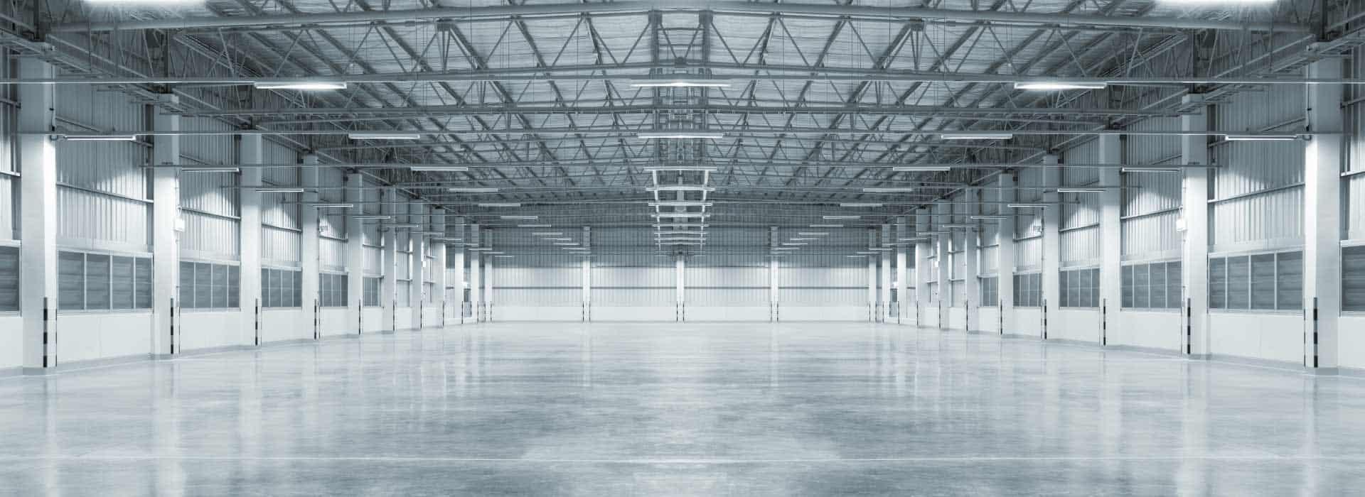imagen de interior de nave industrial vacia