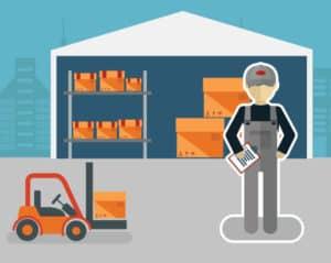 ilustracion de almacen industrial