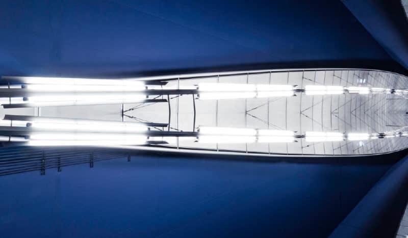 iluminación de nave industrial
