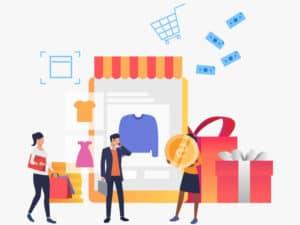 ilustración de venta en línea