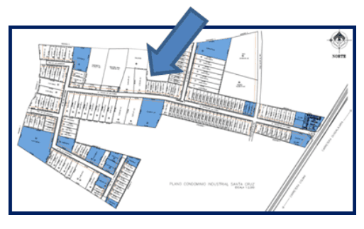 mapa de bodega en parque industrial bodega 47