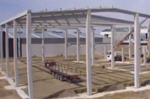 construcción de una bodega industrial en proceso