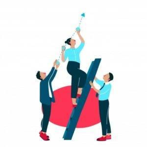 ilustración de mejora en equipo